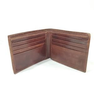Vintage Mens Bosca Brown Leather Wallet USA Made